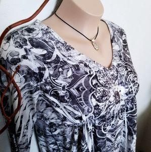 Boho Style Marled Tunic | Kiara | Women's XXL